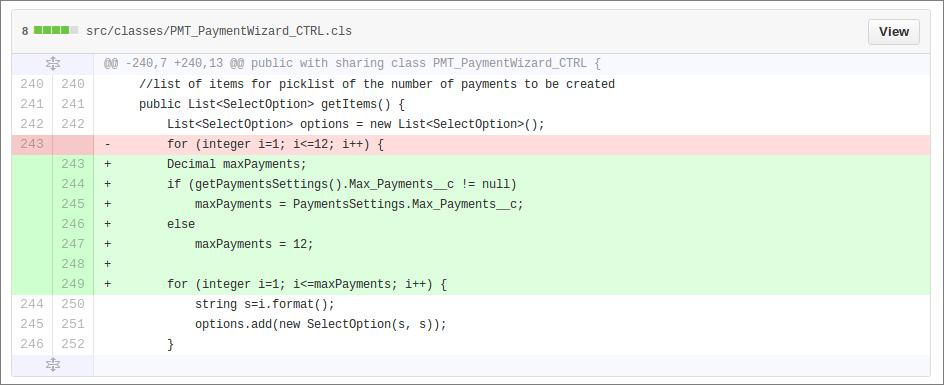 Payment Wizard controller class