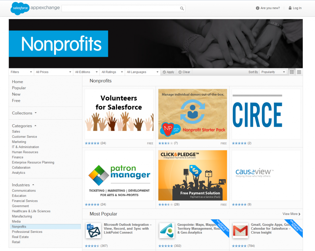 Salesforce AppExchange Nonprofits