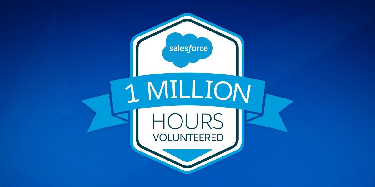 Salesforce Hits 1 Million Volunteer Hours Salesforce Org