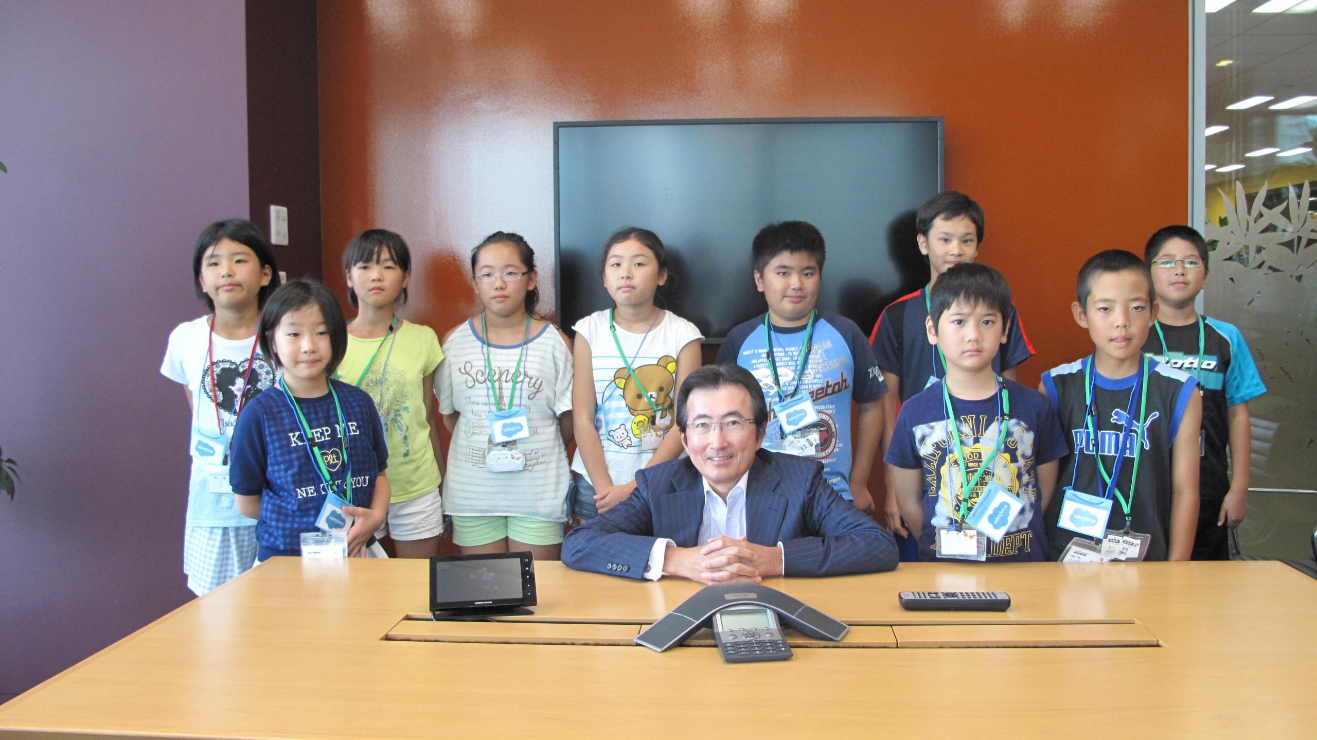 Salesforce Japan volunteers with litate vilage
