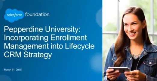 Webinar: Incorporating Enrollment Management into Lifecyle CRM Strategy
