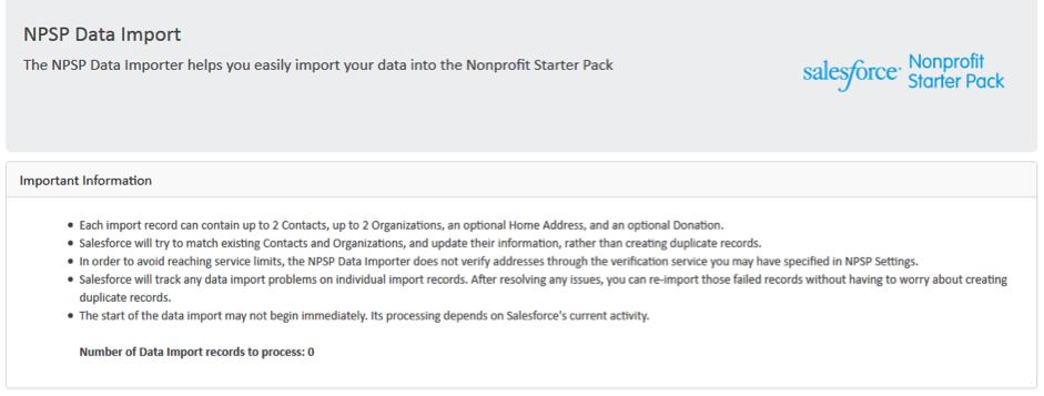 NPSP Data Import