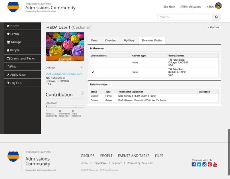 Admissions Community