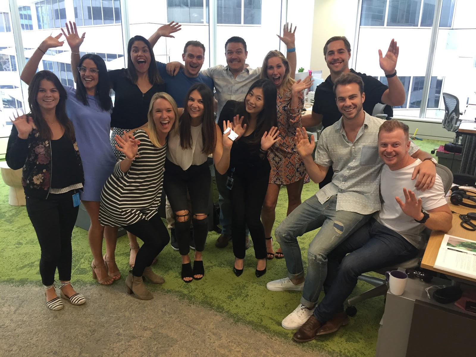 Salesforce team volunteering with AIME