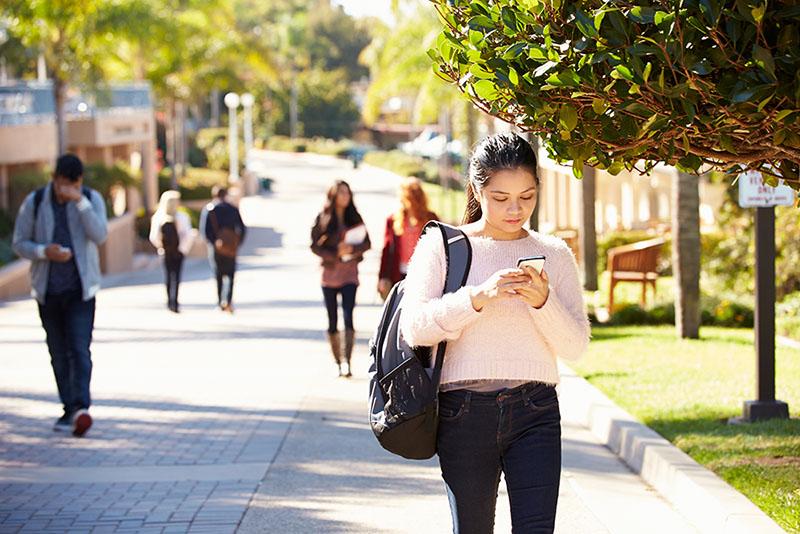 Student On University Campus