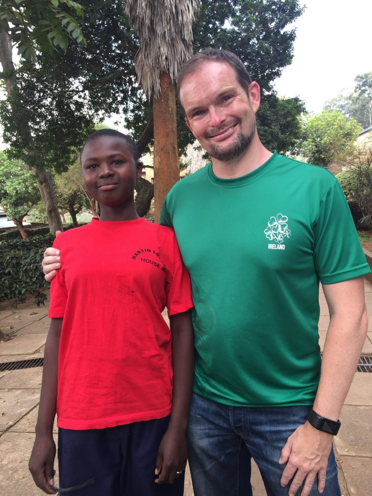 St.Martins - Kenya - Cyril and Sponsored Student