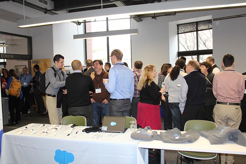 People socializing at HEDA workshop