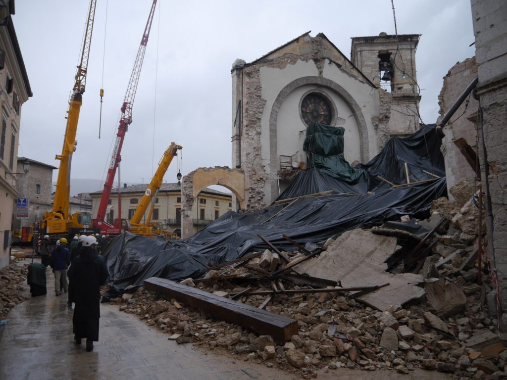 Monks of Norcia - Norcia after earthquake
