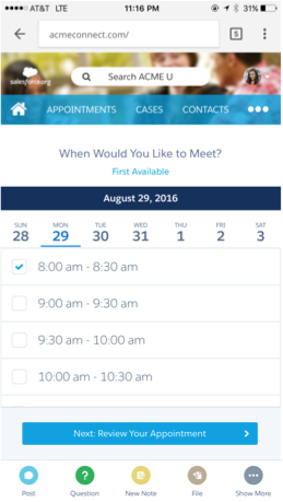 Salesforce Advisor Link Screenshot