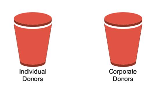 Individual v. Corporate Donor Bucket Visual