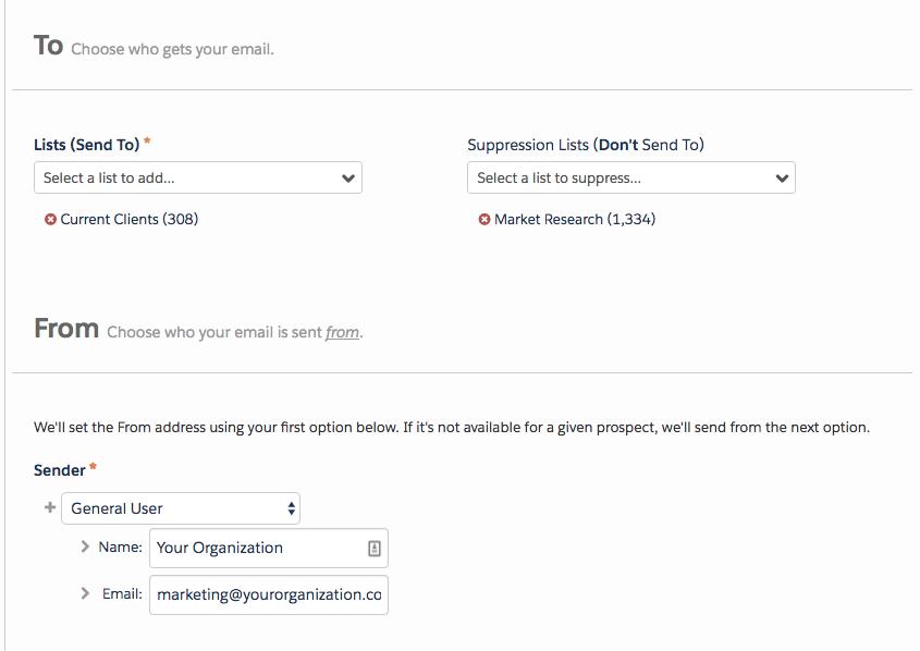 sending email Pardot