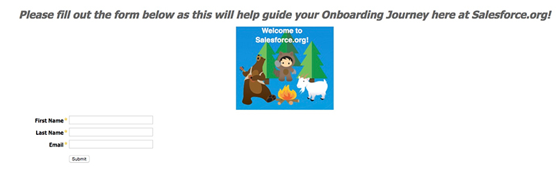 Onboarding form