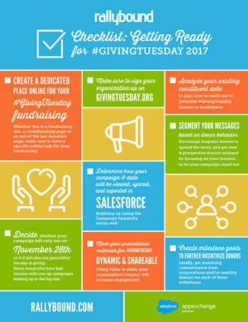 RallyBound #GivingTuesday Checklist