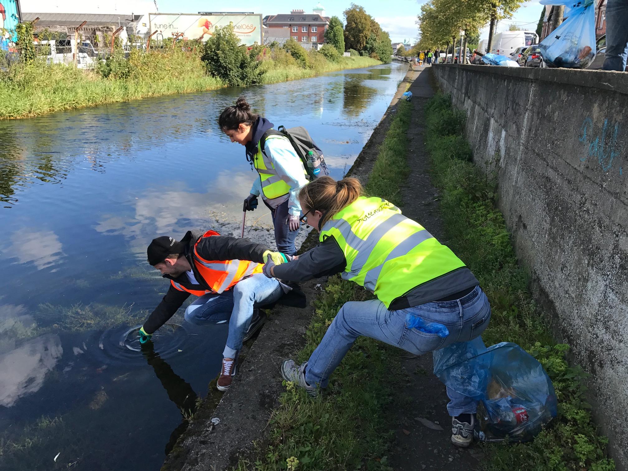 canal clean up - CSR program Dublin