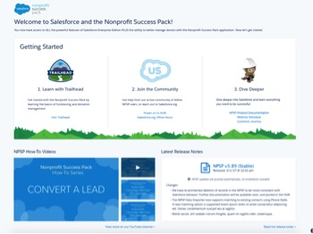 Welcome to Salesforce and NPSP
