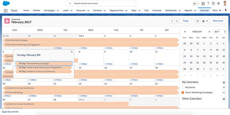 Nonprofit Direct Mail Calendar in Salesforce NPSP