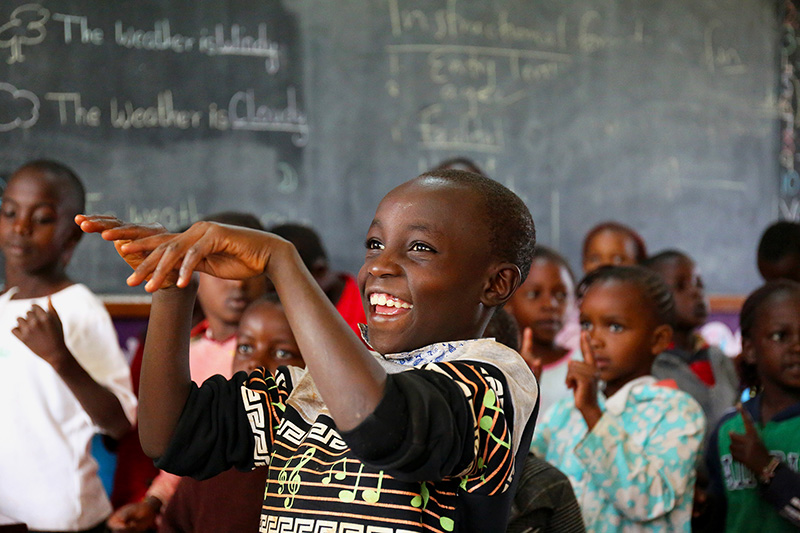 The Karibu Centre in Kenya is one location that Salesforce employees do skills based volunteering supporting STEM education.