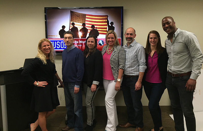 Salesforce volunteers support the USO with the Nonprofit Success Pack in a skills based volunteer engagement