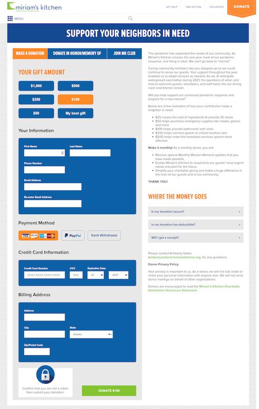 Screenshot of Salesforce and WordPress integration