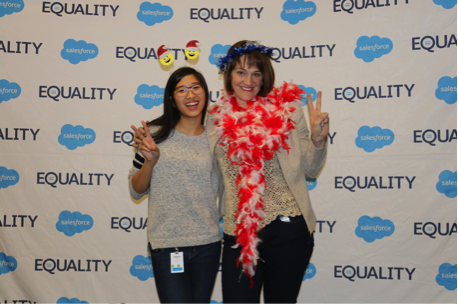 Salesforce interns from Genesys Works being celebrated at an event in January