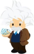 The Professor is the mascot of the Einstein product – making Deep Learning more accessible to businesses and nonprofits.