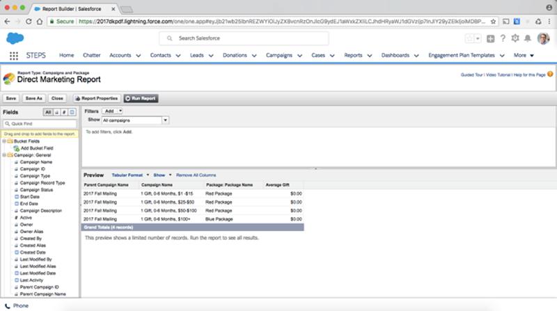 Salesforce Report Configuration