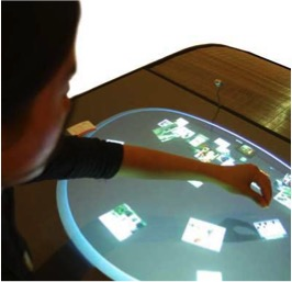 This is the Dialog Table. It was installed in the Walker Art Center in Minneapolis.