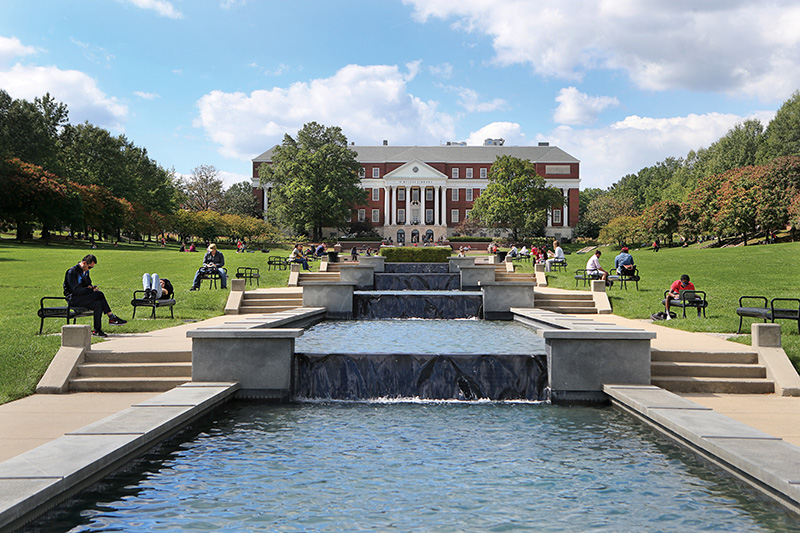 University of Maryland campus. University of Maryland uses Salesforce.org Education Cloud, especially in marketing automation.