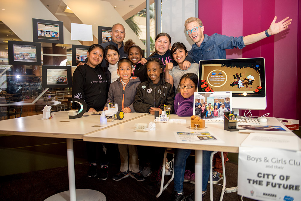 Employee engagement and STEM education come together in a Salesforce employee volunteering event