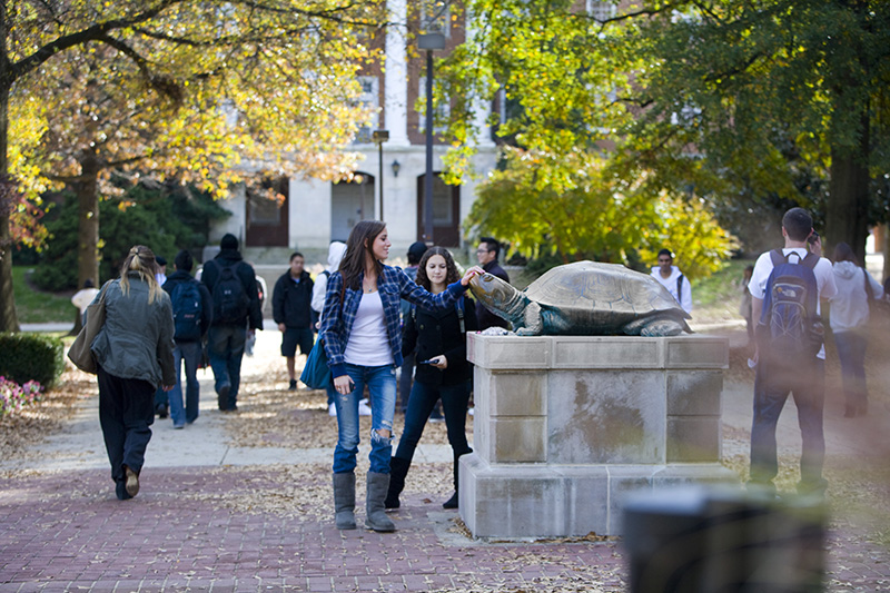 Students at the University of Maryland campus