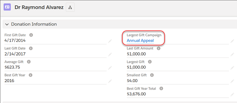Donation rollup - customize your Salesforce reporting