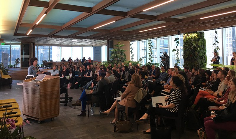 Allyson Fryhoff presenting Nonprofit Cloud to our community at Salesforce headquarters in San Francisco.