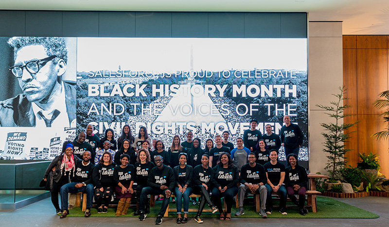 Salesforce employees celebrate Black History Month