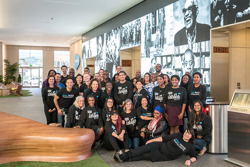Salesforce employees celebrate Black History Month.