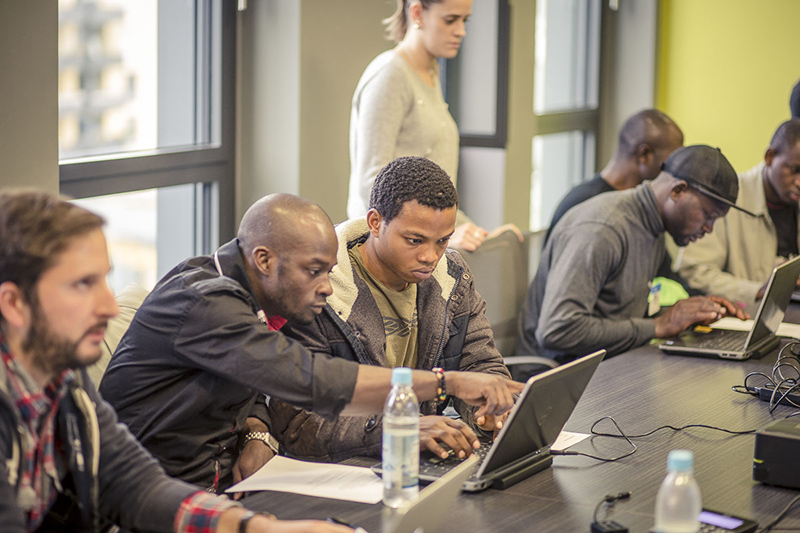 Salesforce employees help newcomers build their skills and networks