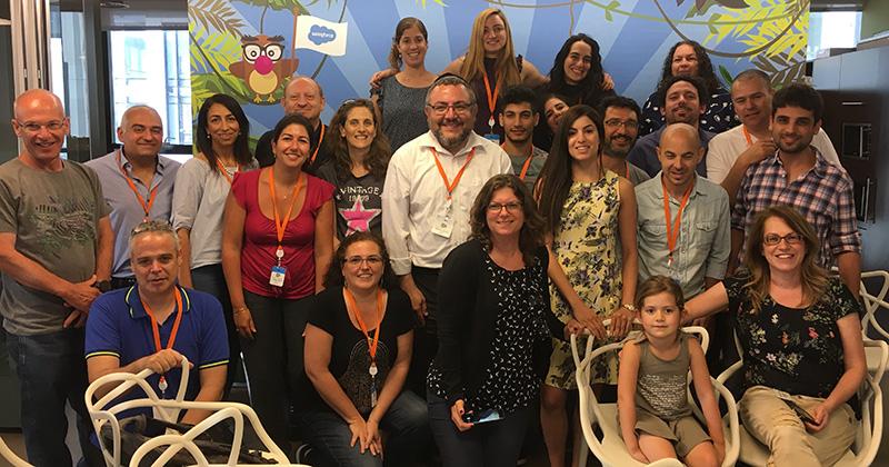 Workforce development program volunteers from Salesforce in Israel