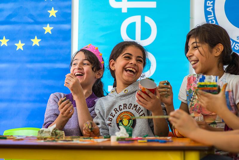 World Refugee Day – Syrian Refugee Children at a UNICEF-supported Center in Turkey