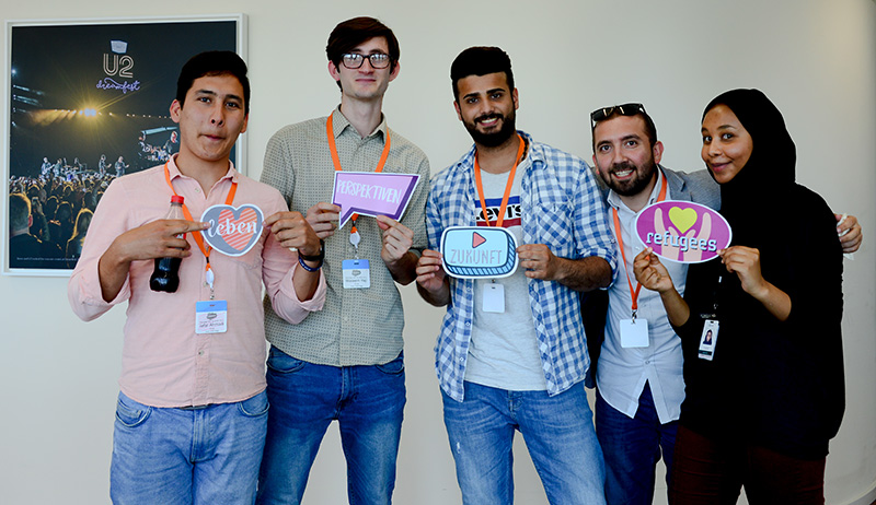 Workforce development volunteers in Germany. Photo credit: Yvonne Alber