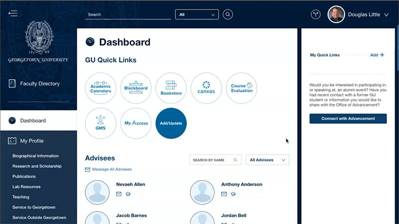 Georgetown uses Salesforce.org Education Cloud to make it easy for students to access resources, powering student success and more.
