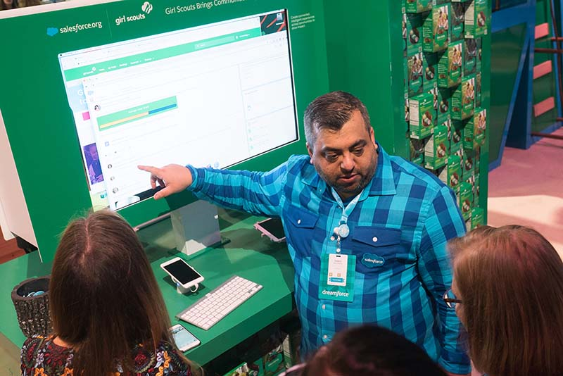 A demo of how a nonprofit customer uses Salesforce, at Dreamforce