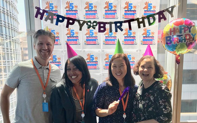 The Hub 5th birthday celebration