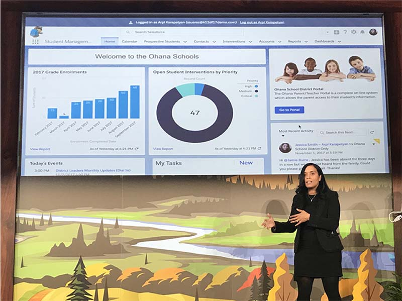Selina Suarez, Senior Product Manager at Salesforce.org, explains the Connected School vision at Dreamforce 2017