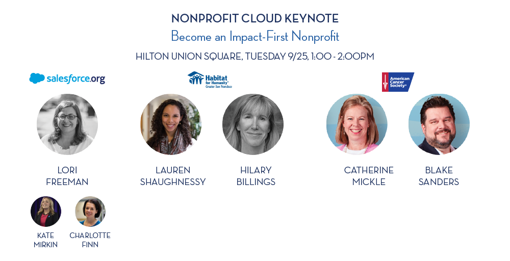 Speakers for the Dreamforce 2018 Nonprofit Cloud keynote