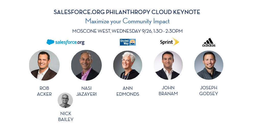 Dreamforce keynote speakers on Salesforce.org and Philanthropy Cloud