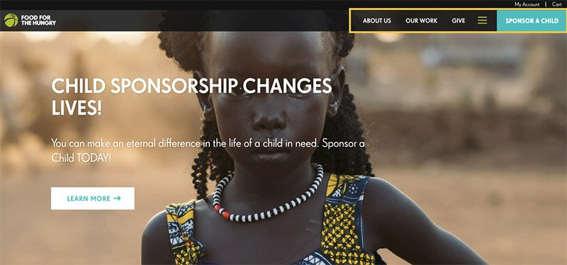 Nonprofit website that has a nonprofit fundraising best practice: making it easy to make a recurring donation