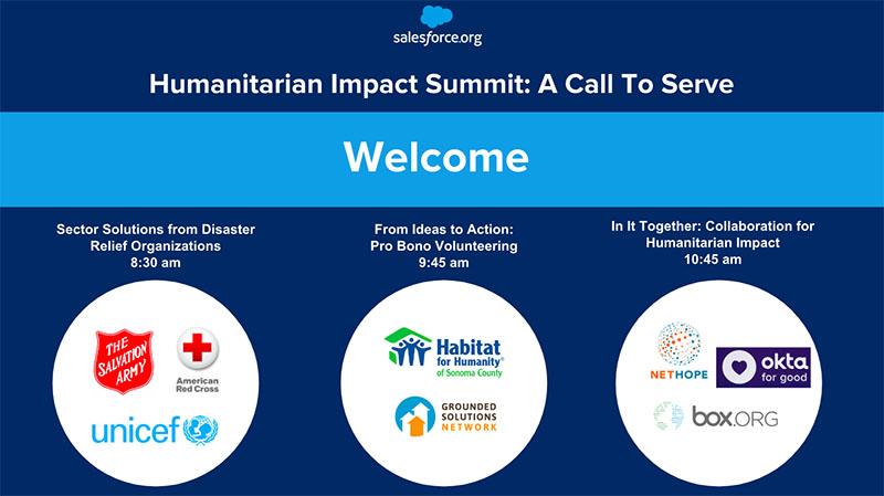 Disaster preparedness - slide from the Salesforce.org Humanitarian Impact Summit