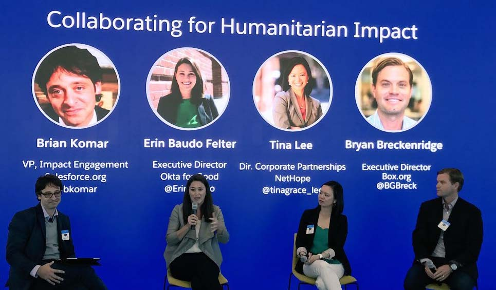 Panel from the Salesforce.org Humanitarian Impact Summit