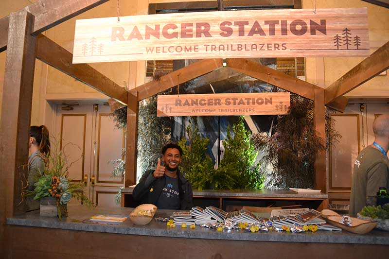 The Ranger Station at Dreamforce 2018, where attendees could stop by and get directions. With Salesforce.org, you don't have to go it alone with your nonprofit technology.