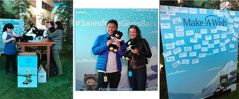 Giving Tuesday employee engagement volunteer event at Salesforce