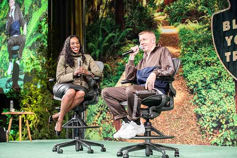 Ebony Frelix and Macklemore at Future Executive Summit